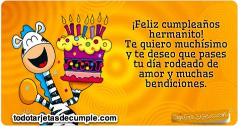 imagenes de happy birthday para un hermano 17 best ideas about tarjetas de cumplea 241 os hermano on