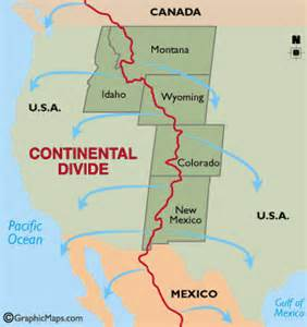 continental divide map colorado continental divide map and details