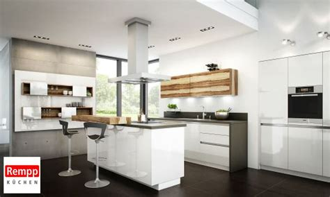 küchen mit theke wohnzimmer regale design