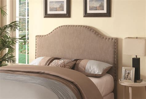 size of queen headboard coaster 300223 beige queen size fabric headboard steal a