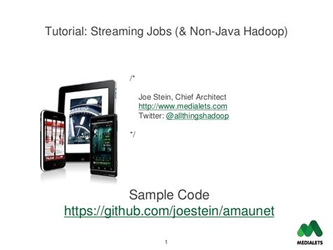tutorial video streaming hadoop streaming tutorial with python
