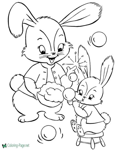 easter bunny coloring pages games easter bunny coloring pages