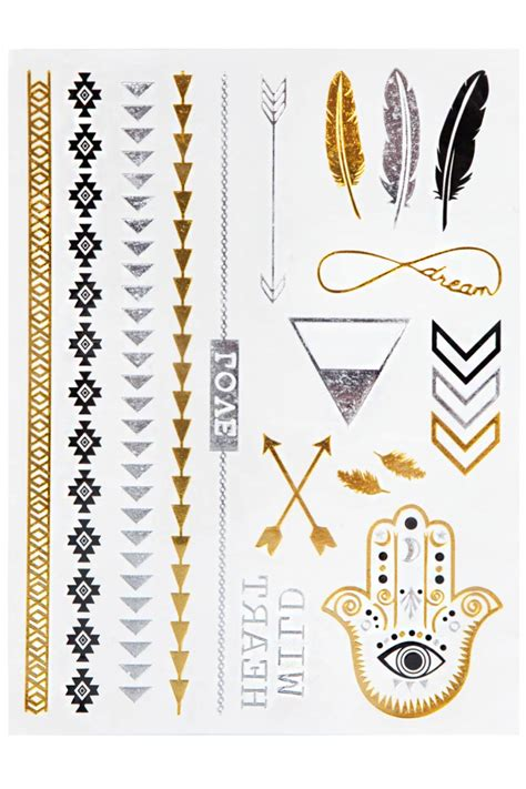 gold and silver tattoos gold silver sticker 365ist
