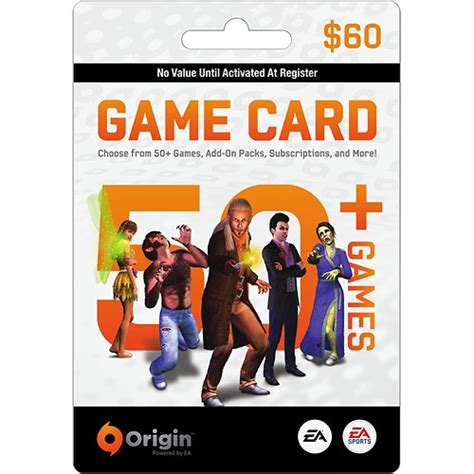 card origin ea ea origin wallet card 60 multi 60eaorigincard best buy