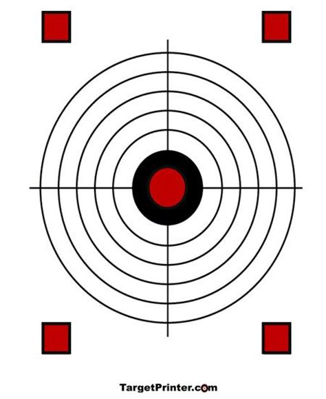 best printable shooting targets 17 best images about targets printable on pinterest