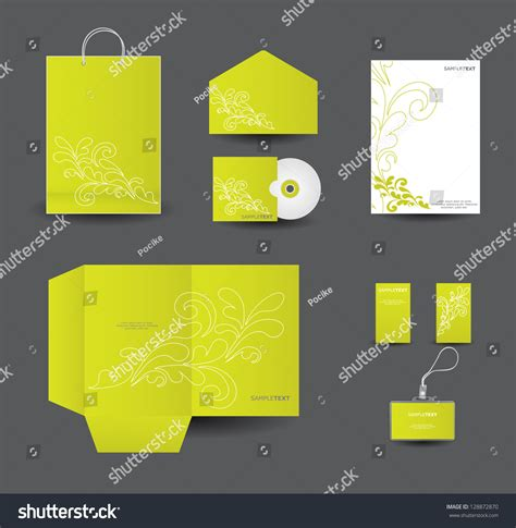 stationery layout vector stylish stationery design set vector format stock vector