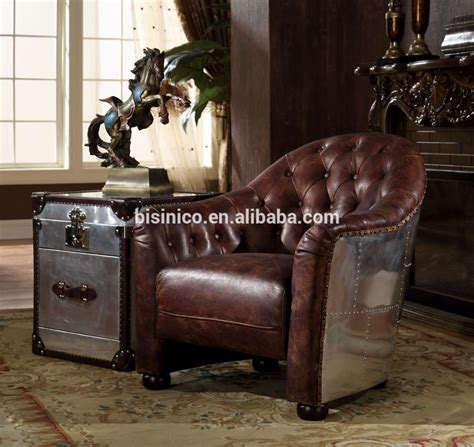 antique style classic furniture genuine leather living american replica genuine leather living room couch vintage