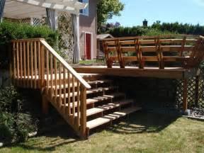 treppe bauen gartentreppe aus holz selber bauen anleitung und beispiele