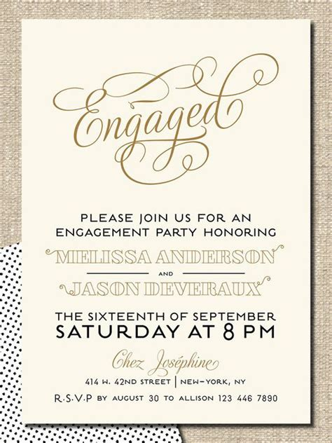 engagement party invitation diy printable invitation