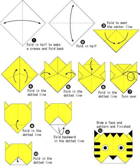 origami tutorial on pinterest lovely tiger origami tutorial origami pinterest
