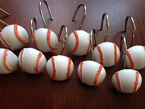 baseball shower curtain hooks what is the lowest price for baseball shower curtain