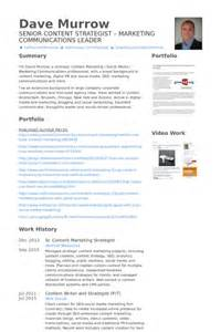 Content Strategist Sle Resume by Marketing Strategist Resume Sles Visualcv Resume Sles Database