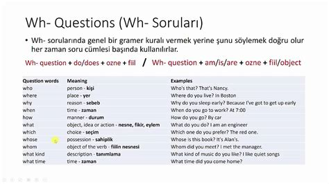 Mba Sle Questions by Wh And How Questions Nerede Ne Zaman Nasıl Nekadar