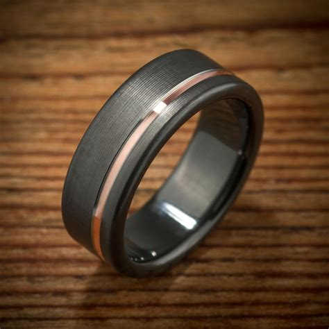 Wedding Bands Black by Custom Black Zirconium Wedding Bands Spexton Custom Jewelry