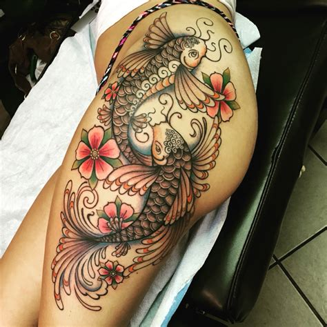 koi inside warp tattoo here my tattoo koi fish by jess brennan tattoos piercings pinterest