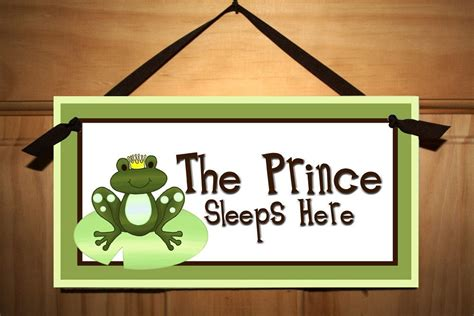 bedroom door signs frog prince boys baby nursery bedroom door sign by toadandlily