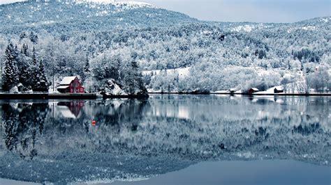 imagenes de jardines nevados fondo de pantalla paisaje lago en paisaje nevado