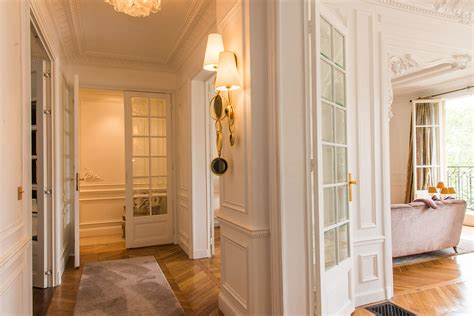 A Witty Entrance In A Parisian Apartment by Luxurious 2 Bedroom Apartment With Stunning Eiffel