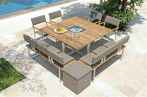 gartenmöbel modern design tisch quadux modern outdoor gartenm 246 bel other
