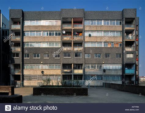 Derelict block of flats at the Chingford Hall Estate