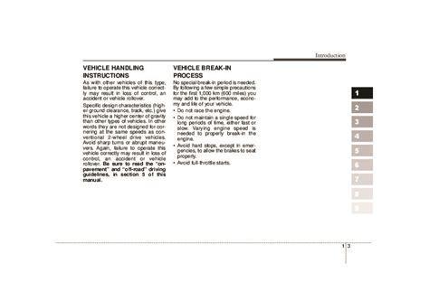 2007 Kia Sportage Owners Manual by 2007 Kia Sportage Owners Manual