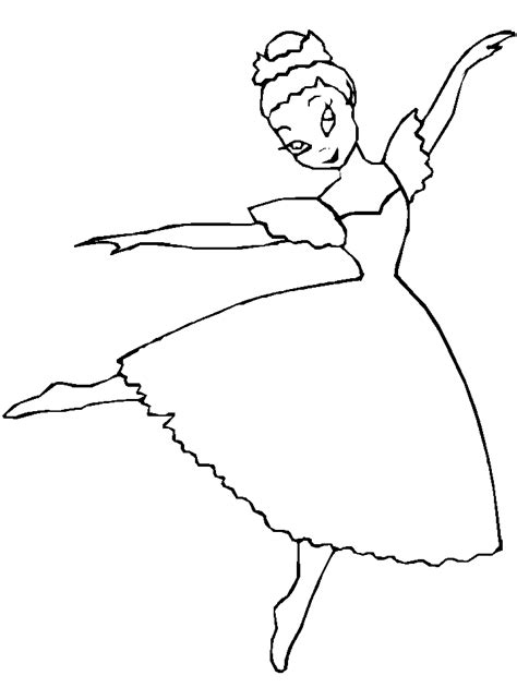 Ballet Coloring Pages Coloringpages1001 Com Ballerina Colouring Page