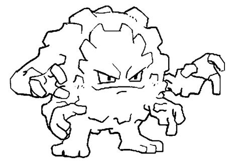 pokemon coloring pages geodude coloring pages pokemon graveler drawings pokemon