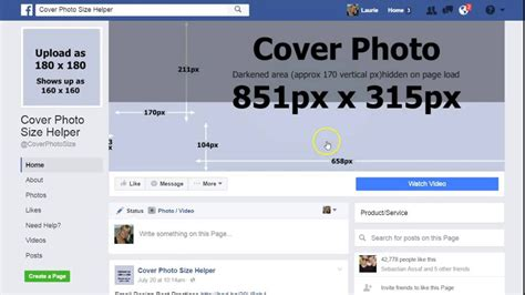 Cover Photo Size In Inches