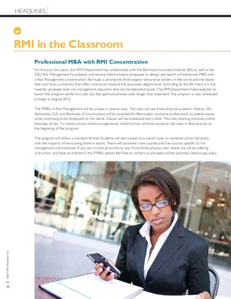 Gsu Mba Concentrations by 2015rmireport Web