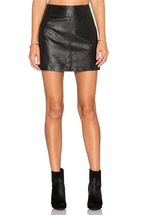 bb dakota ian leather mini skirt in black revolve