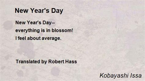 new year s day poem by kobayashi issa poem hunter