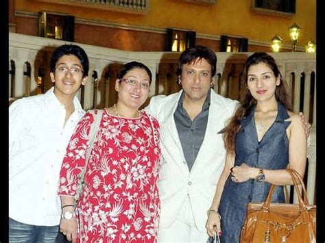 actor govinda parents actor govinda and family photos with wife son daughter