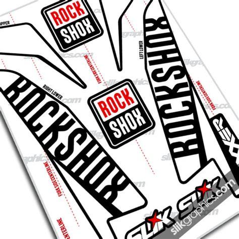 Rockshox Retro Stickers by Fork Decals Rockshox Collection Slik Graphics