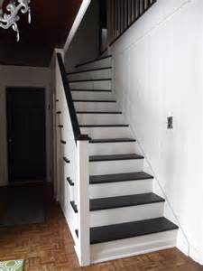 Painted Staircases Black Vs White Remodelaholic Black And White Painted Staircase