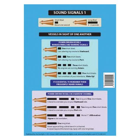 narrow boat horn signals sound signals cockpit cards dvd cd rom and learning
