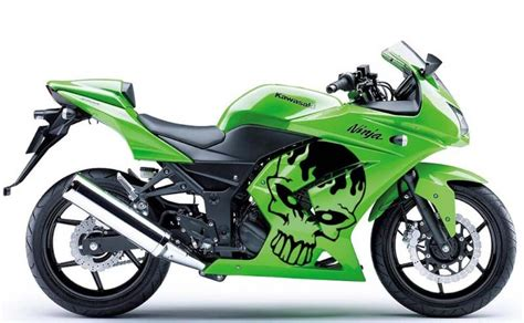 Kawasaki Ninja 250r Sticker by Kawasaki Ninja 250 Cutting Sticker Skull Motor Sport