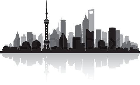 Shanghai Clip shanghai china city skyline vector silhouette illustration