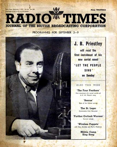 S Day Jb Priestley Question And Answers Archive Wwii Outbreak Radio Times Programmes