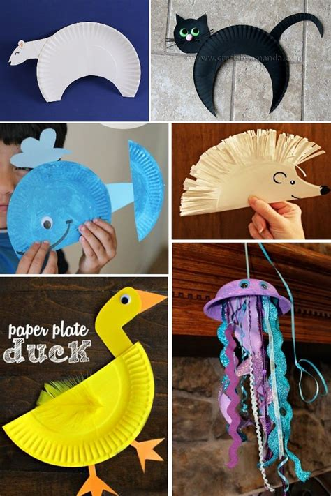 Animal Paper Plate Crafts - paper plate animals on paper plate crafts