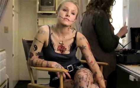 kristen bell shows off 223 tattoos in funny or die video
