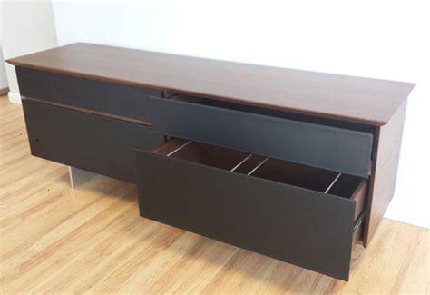file cabinet credenza modern avenue storage credenza in walnut black leather modern