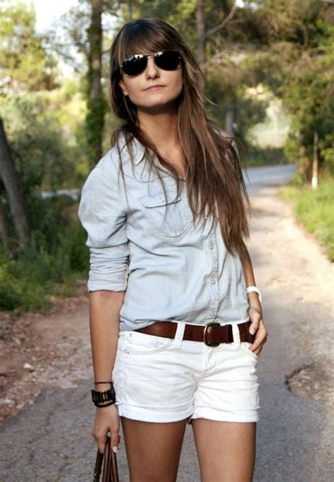 Wst 18465 White Flower Denim Skirt 17 best images about how to wear a denim shirt on