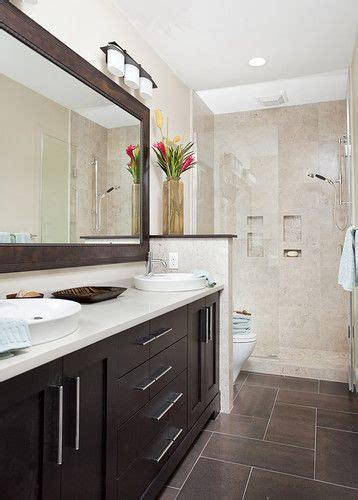 long thin bathroom cabinet long and narrow guest bath eclectic bathroom other