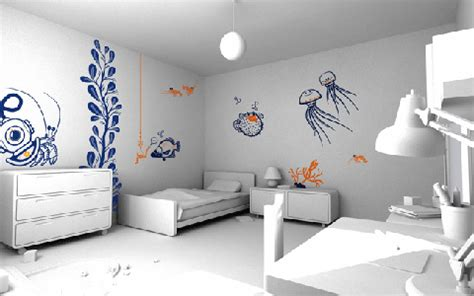 Interesting Wall Painting Designs Engaging Cool Wall Wall Painting Designs For Bedrooms