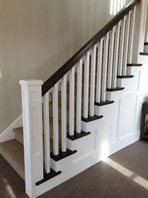 banister post tops white newel post charcoal stained handrail white square