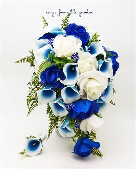 Blue Flower Wedding Bouquet by Blue And White Flowers Bouquet Www Pixshark Images
