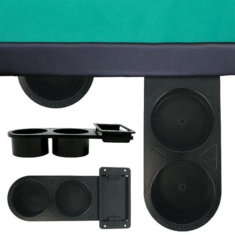 Retractable 2 Cup Plastic Cupholder Under Table Mount Table Cup Holders