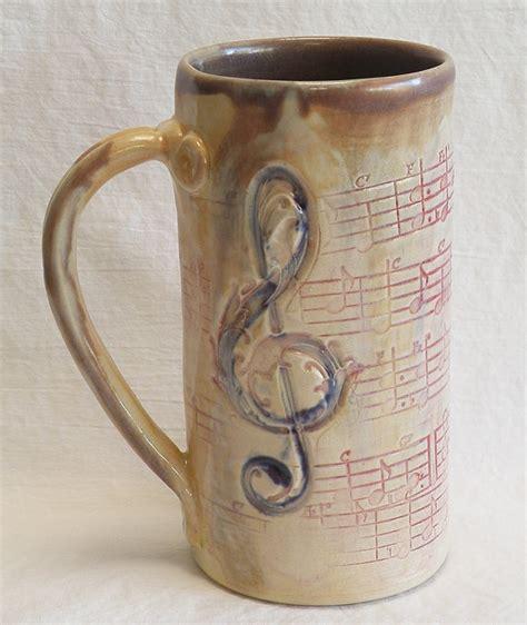 Handmade Coffee - stoneware script 20oz coffee mug handmade ceramic 20c070