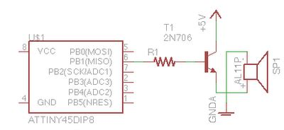 one transistor audio lifier for arduino projects