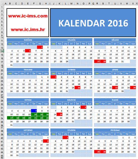 Kalendar S Blagdanima 2018 Kalendar 2018 S Praznicima 28 Images Kalendar 2016 S
